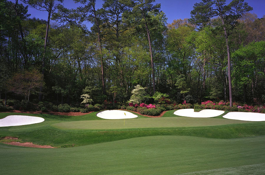 Augusta National Golf Club Hole 13 Azalea Photograph  - Augusta National Golf Club Hole 13 Azalea Fine Art Print
