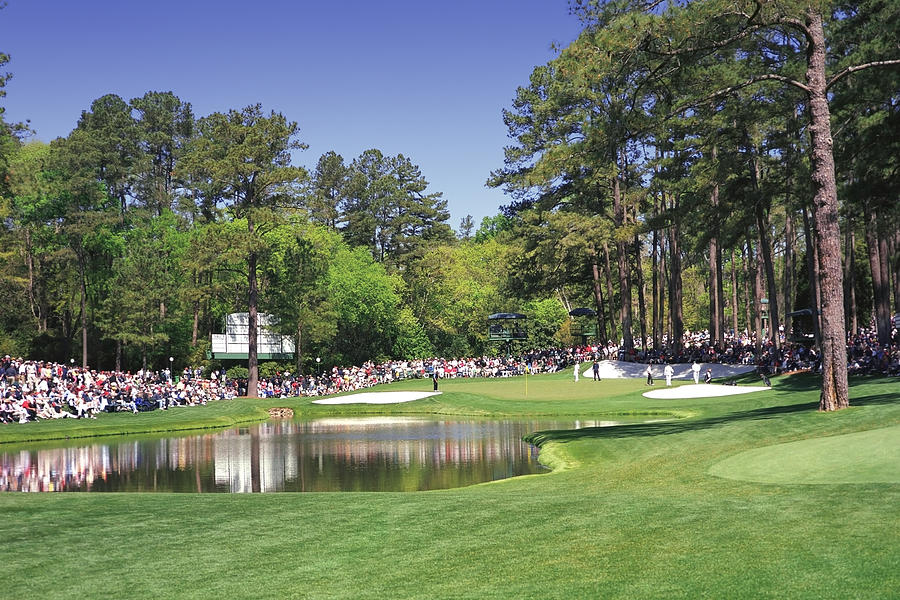 Augusta National Golf Club Hole 16 Redbud Photograph  - Augusta National Golf Club Hole 16 Redbud Fine Art Print