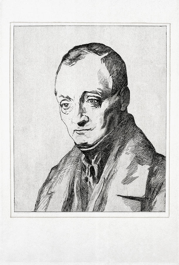 Auguste Comte, French Philosopher Photograph