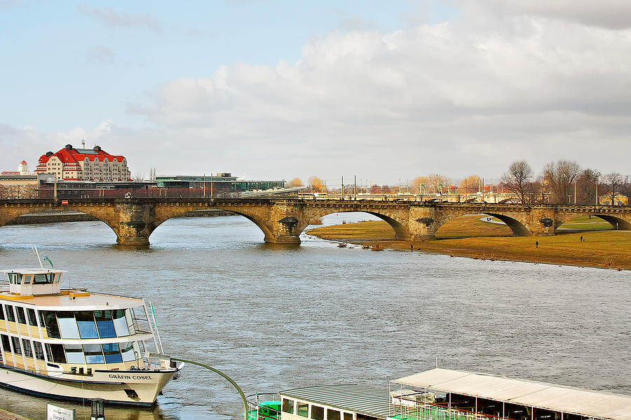 Bridges Photograph - Augustus Bridge Dresden Germany by Christine Till