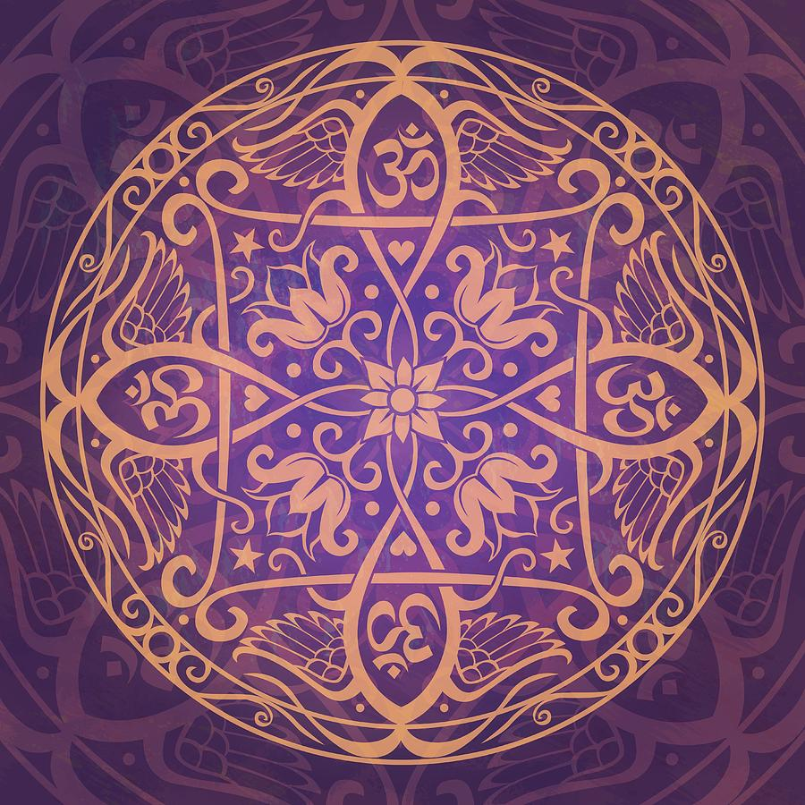 Aum Awakening Mandala Digital Art