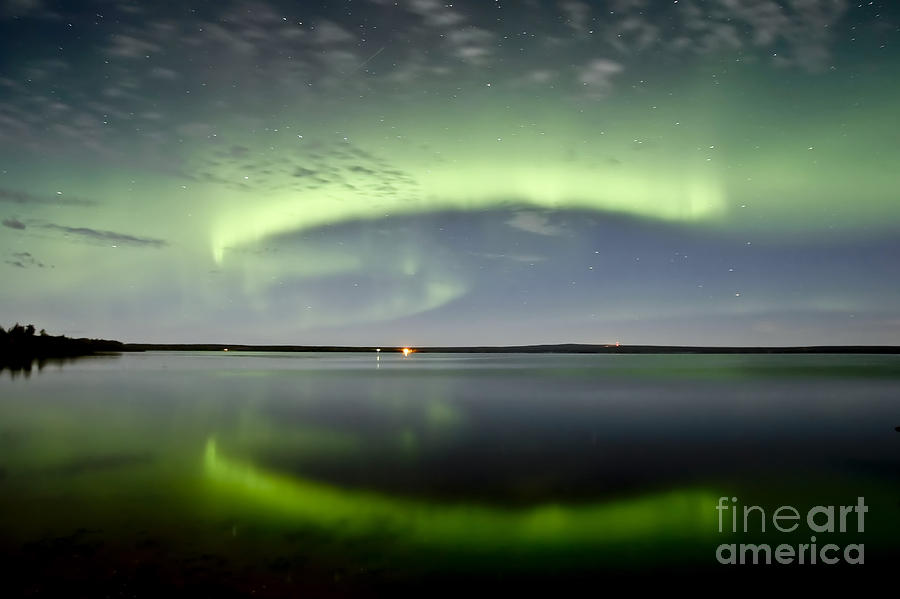 Aurora Borealis And The Leonids Photograph  - Aurora Borealis And The Leonids Fine Art Print