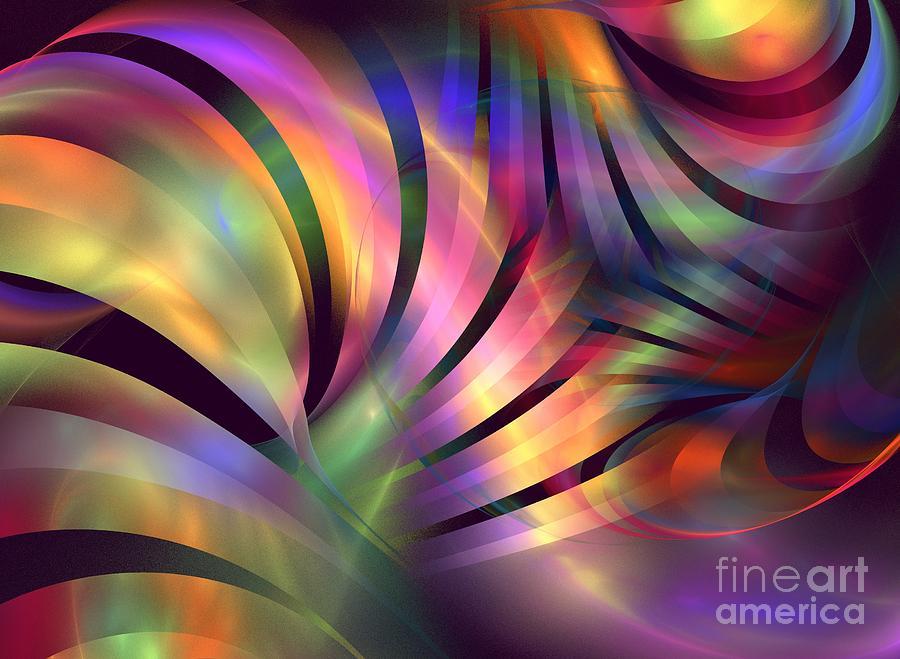 Apophysis Digital Art - Aurora Borealis by Kim Sy Ok