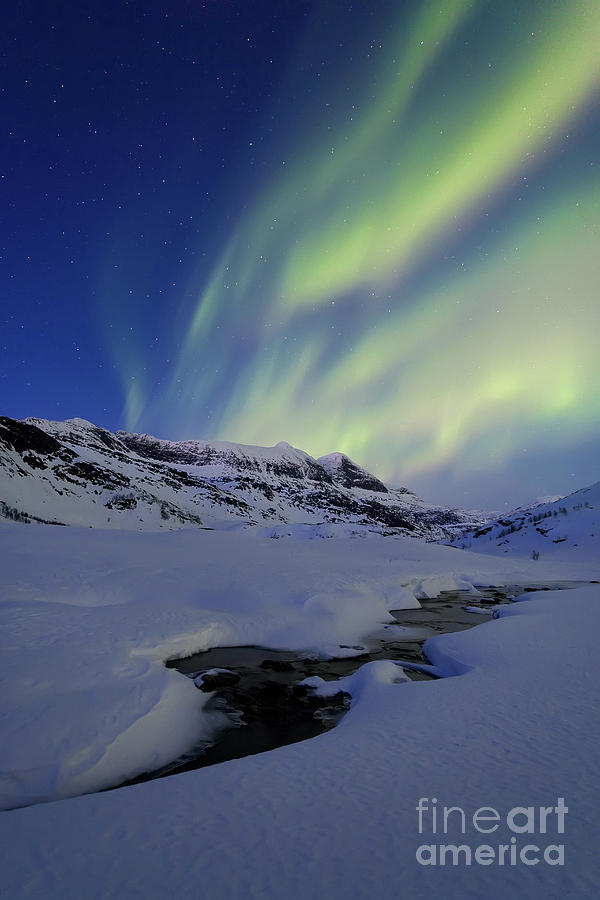 Aurora Over Skittendalstinden In Troms Photograph