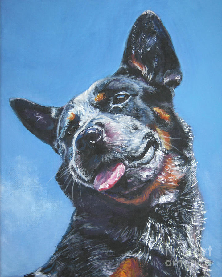 Australian Cattle Dog 2 Painting
