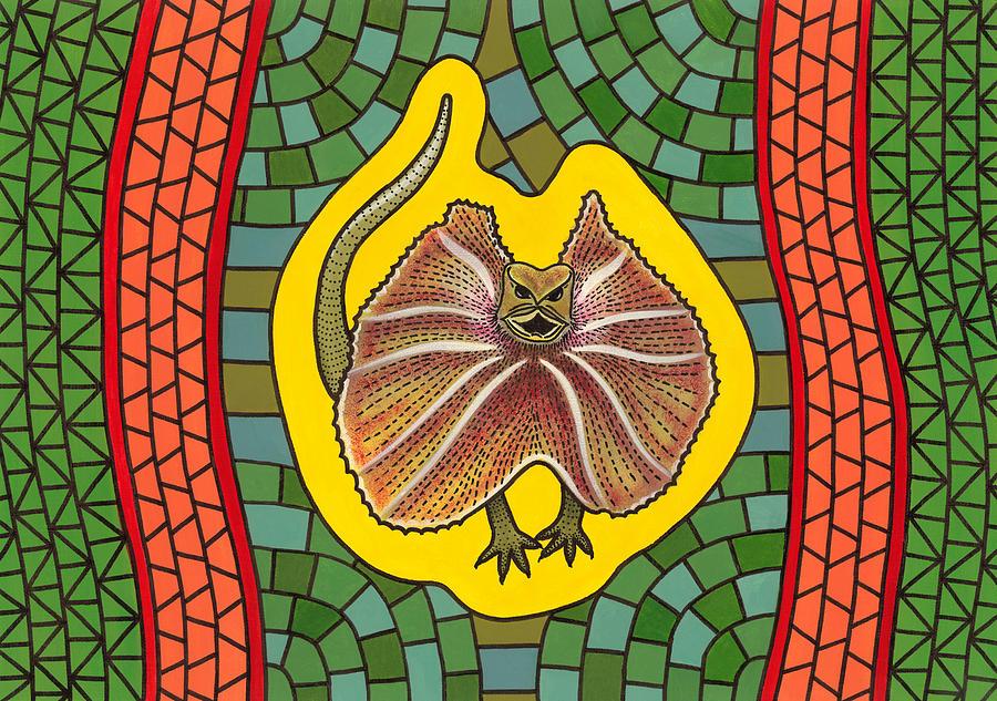 Australian Frill-necked Lizard Painting