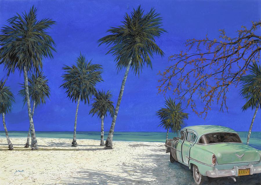 Auto Sulla Spiaggia Painting