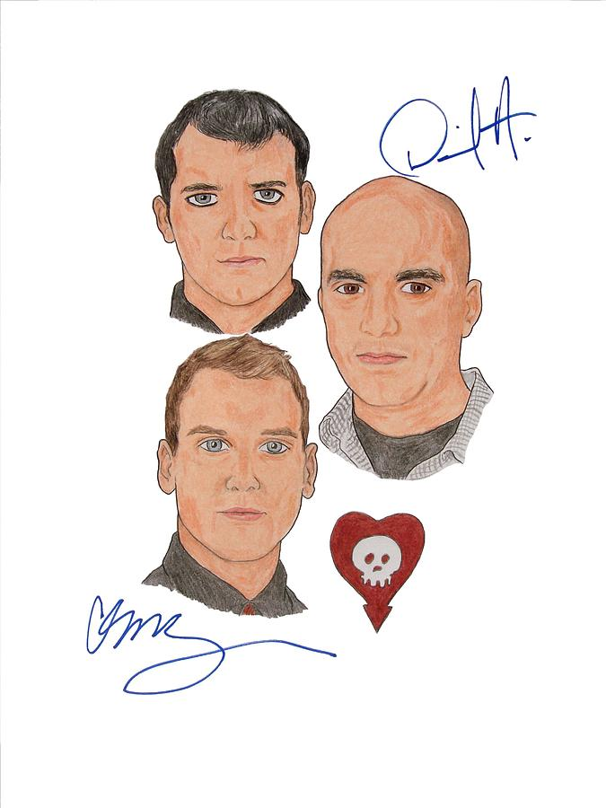 Autographed Alkaline Trio Drawing