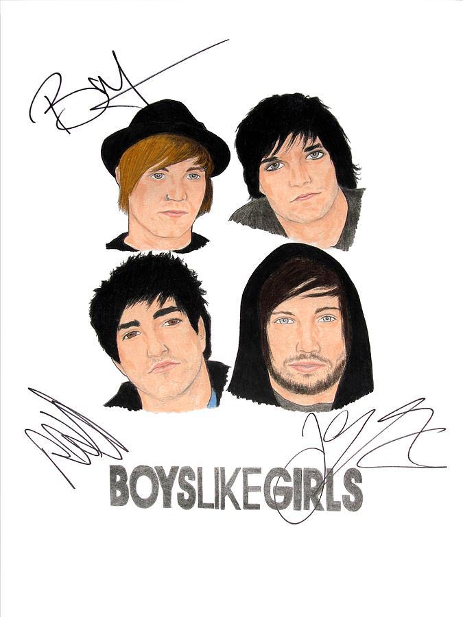 Autographed Boys Like Girls Drawing