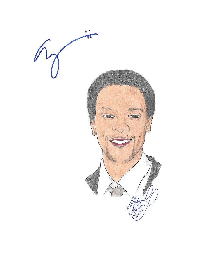 Autographed Edi Gathegi   Drawing