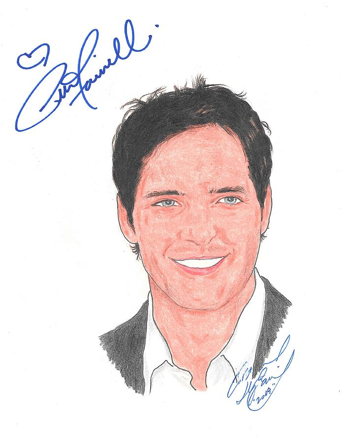 Autographed Peter Facinelli Drawing