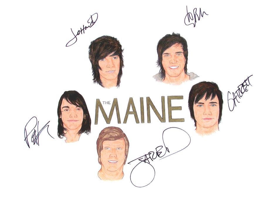 Autographed The Maine 18 X 24 Drawing