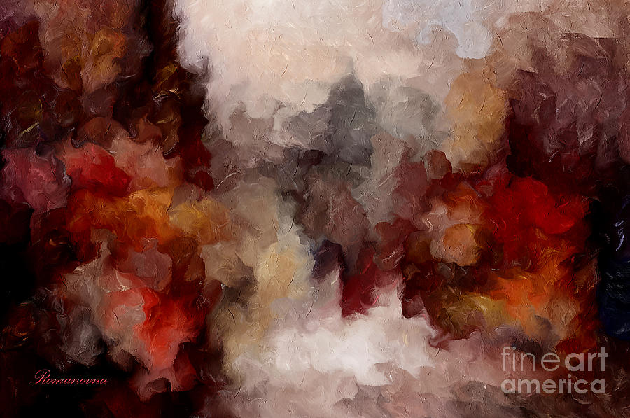Autumn Abstract Mixed Media  - Autumn Abstract Fine Art Print
