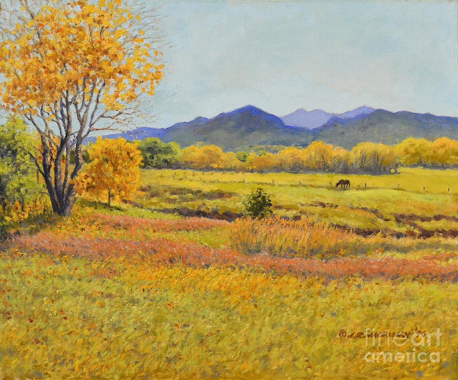 Autumn Afternoon Painting  - Autumn Afternoon Fine Art Print