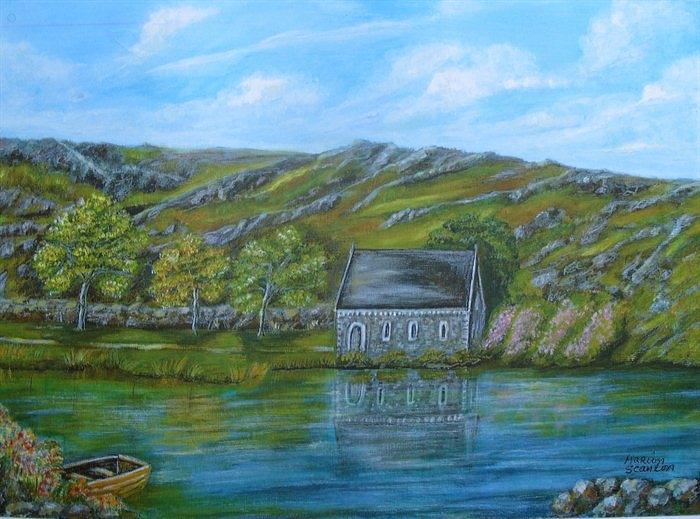 Autumn At Gougane Barra Painting  - Autumn At Gougane Barra Fine Art Print