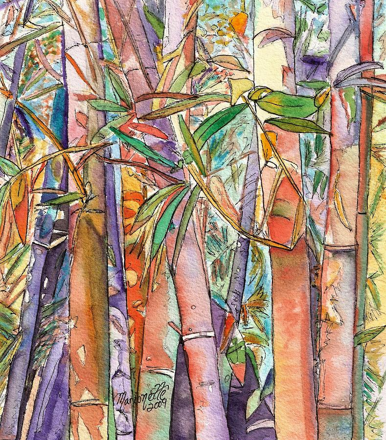 Autumn Bamboo Painting