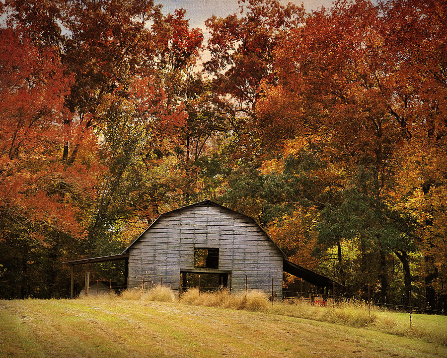Autumn Barn Photograph