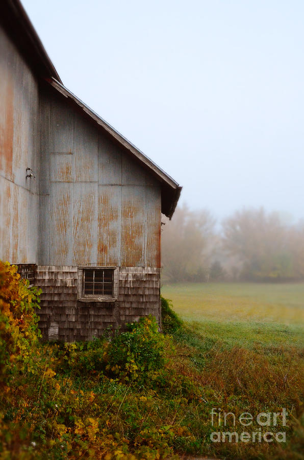 Autumn Barn Photograph