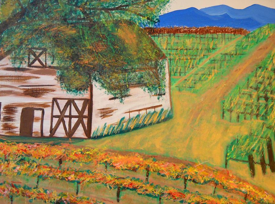Autumn Barn Painting