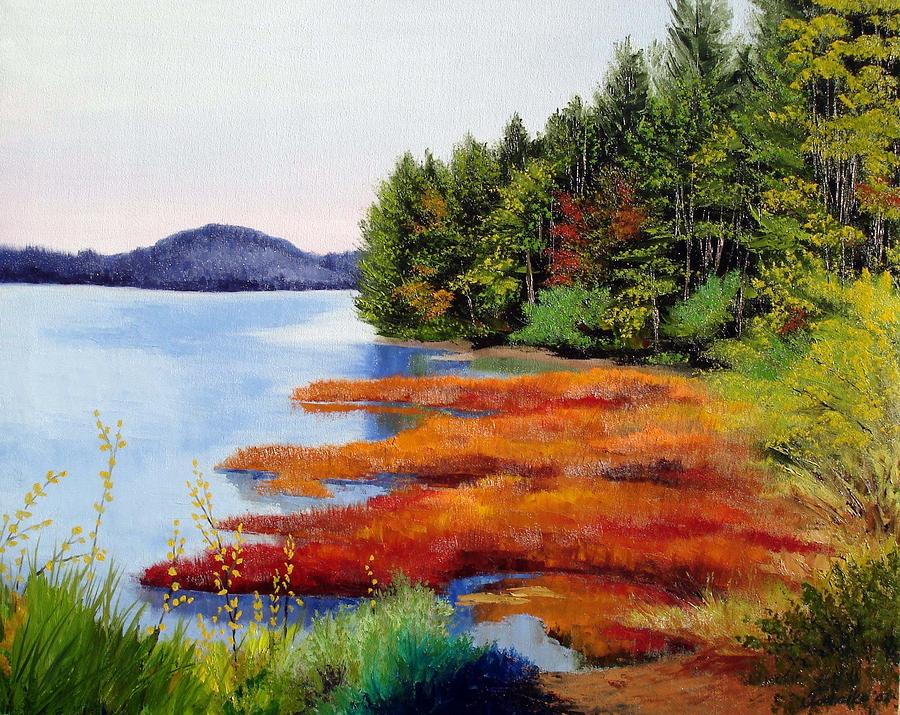Autumn Bay Marsh Painting