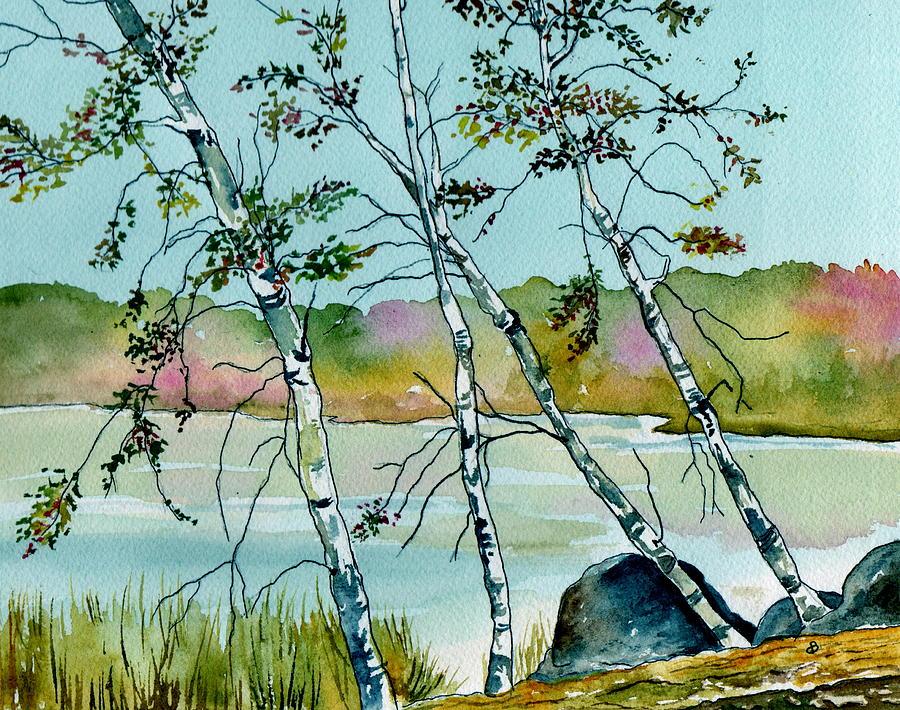 Landscape Painting - Autumn Birches by Brenda Owen