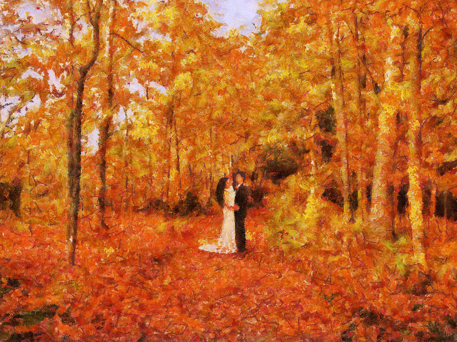 Autumn Dance Painting  - Autumn Dance Fine Art Print