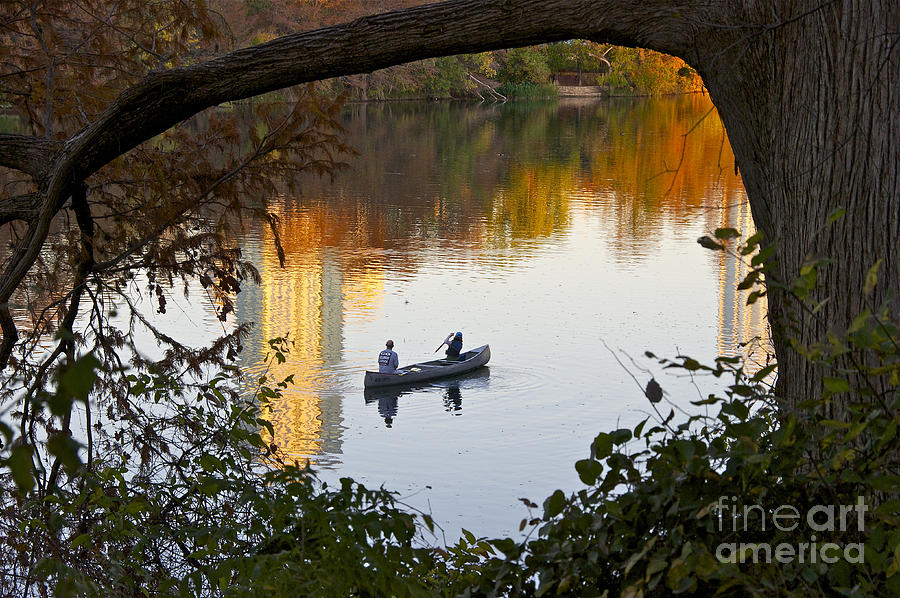 Autumn Idyll On Lake Austin Photograph  - Autumn Idyll On Lake Austin Fine Art Print