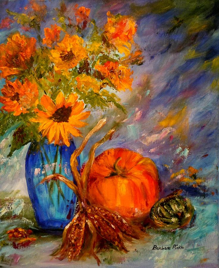 Autumn Painting - Autumn Impressions by Barbara Pirkle