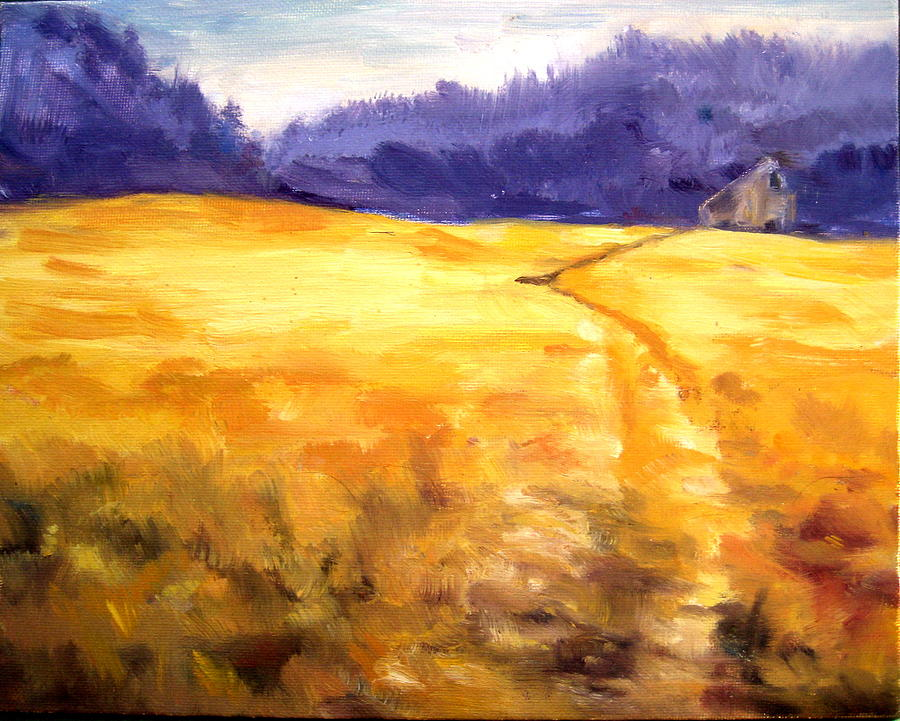 Autumn In The Big Meadow Painting