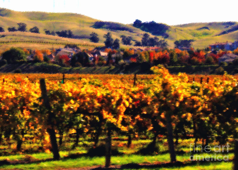 Autumn In The Valley 2 - Digital Painting Photograph