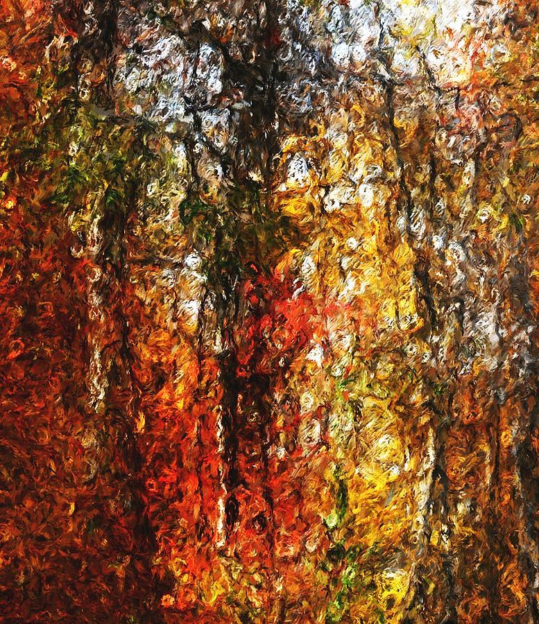 Photo Manipulation Digital Art - Autumn In The Woods by David Lane
