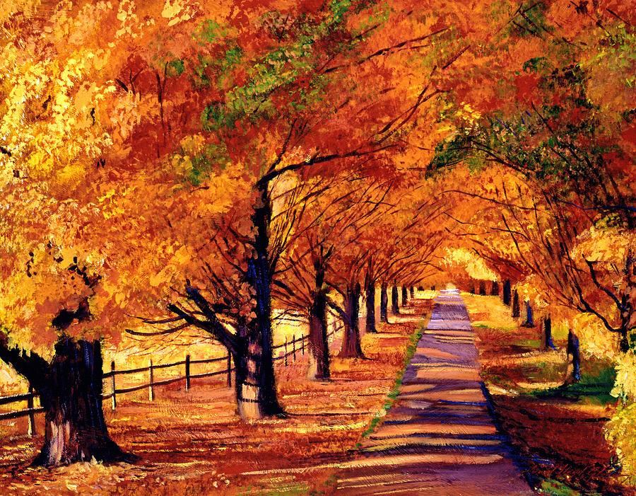 Autumn In Vermont Painting