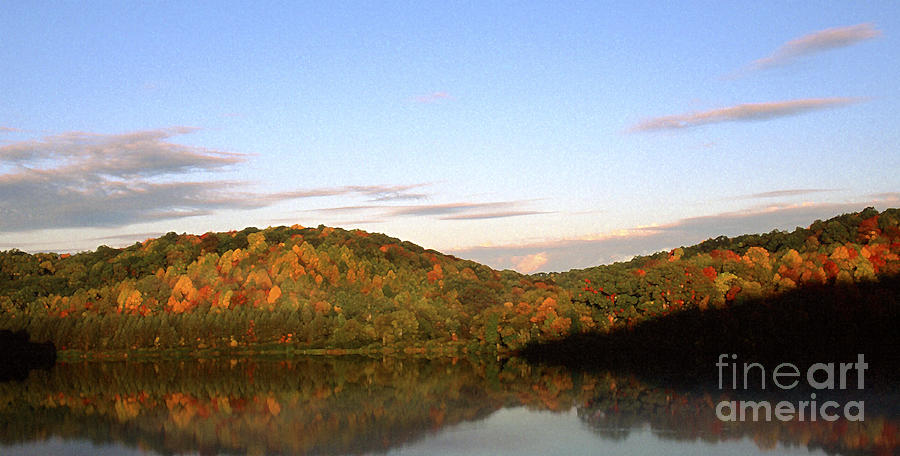 Autumn Lake Panoramic Photograph  - Autumn Lake Panoramic Fine Art Print