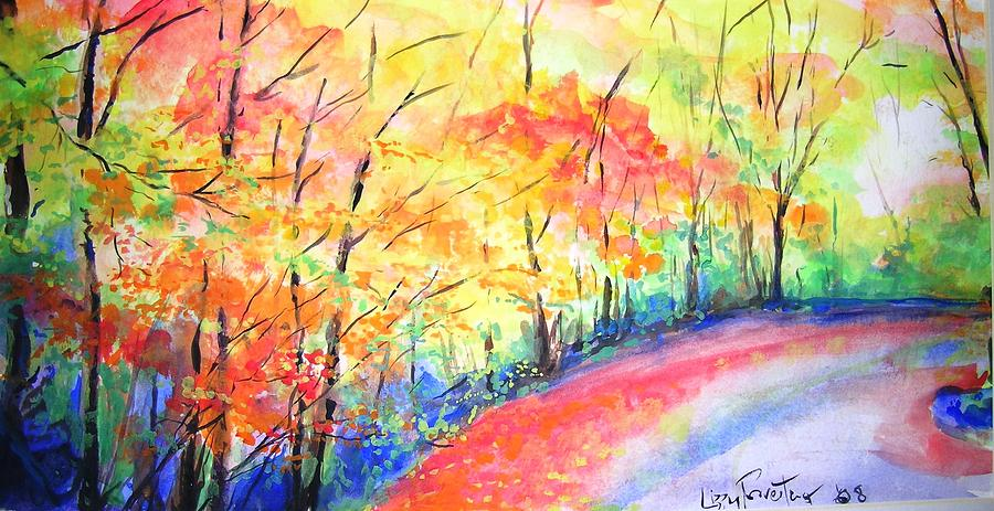 Autumn Lane Iv Painting