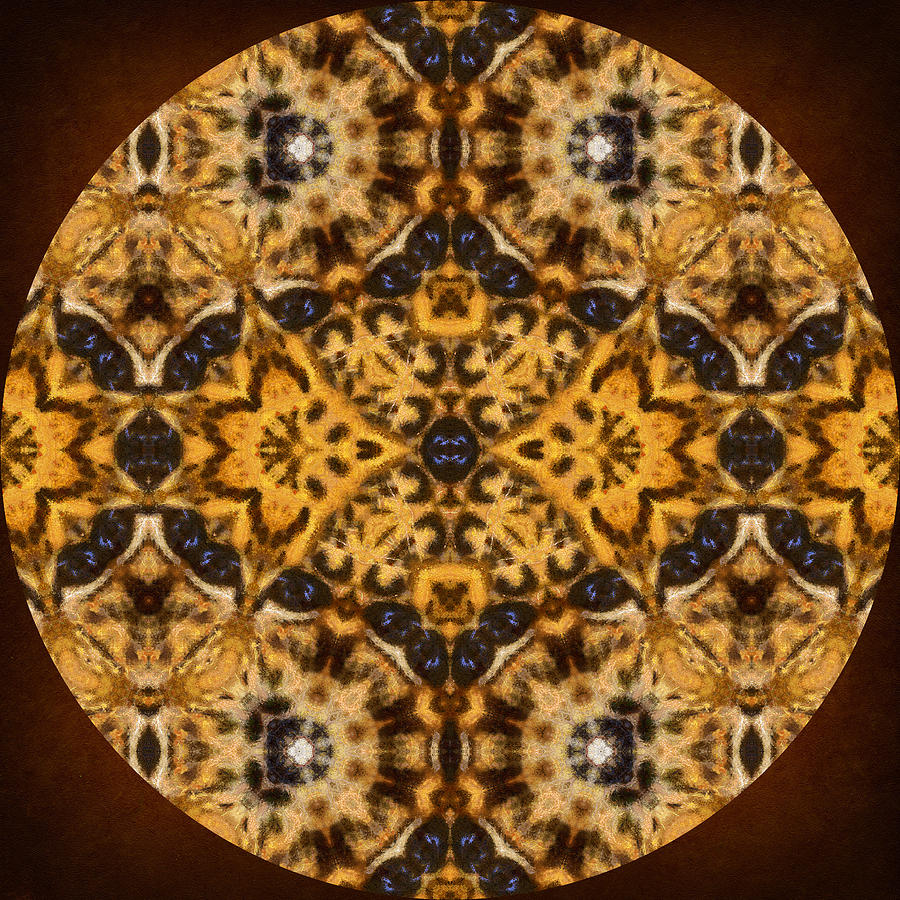 Autumn Mandala Mixed Media  - Autumn Mandala Fine Art Print