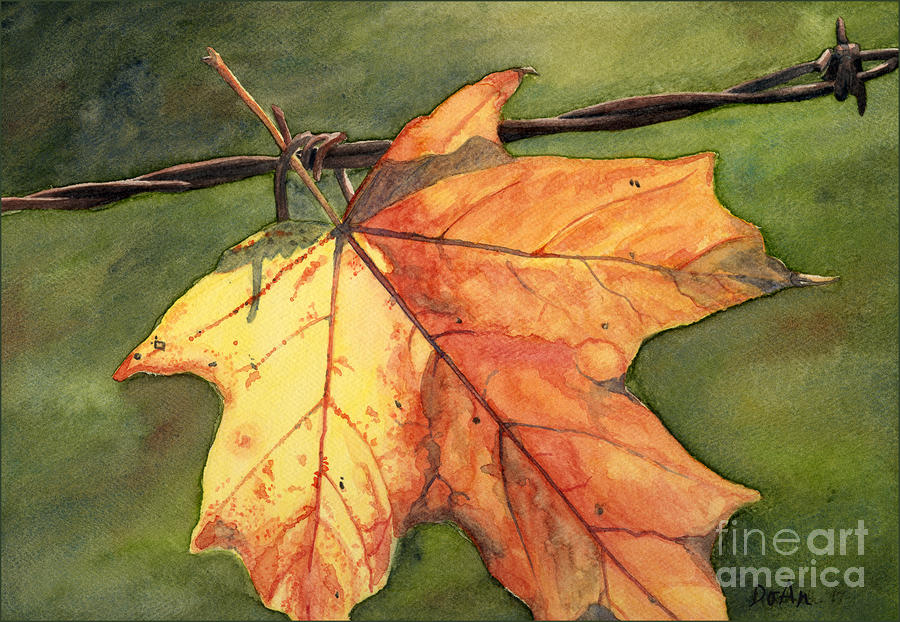 Autumn Maple Leaf Painting  - Autumn Maple Leaf Fine Art Print