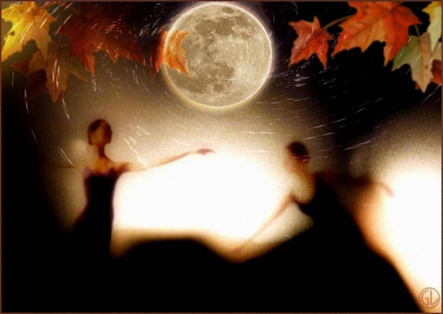 Autumn Moon Dance Digital Art