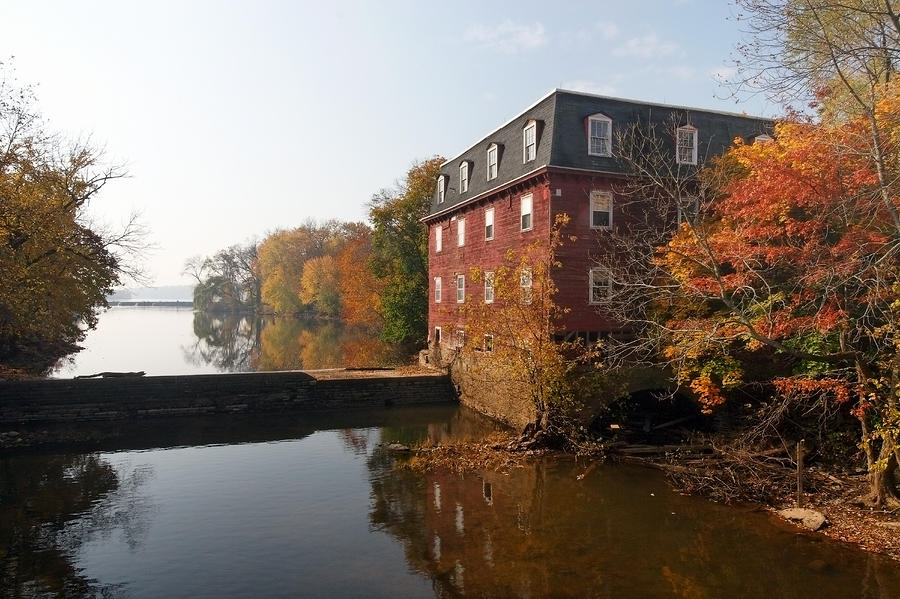 Autumn Morning At The Kingston Mill Photograph