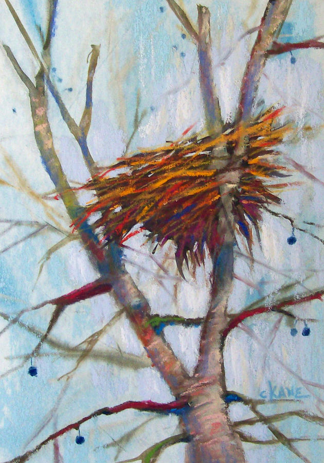 Autumn Nest Pastel  - Autumn Nest Fine Art Print