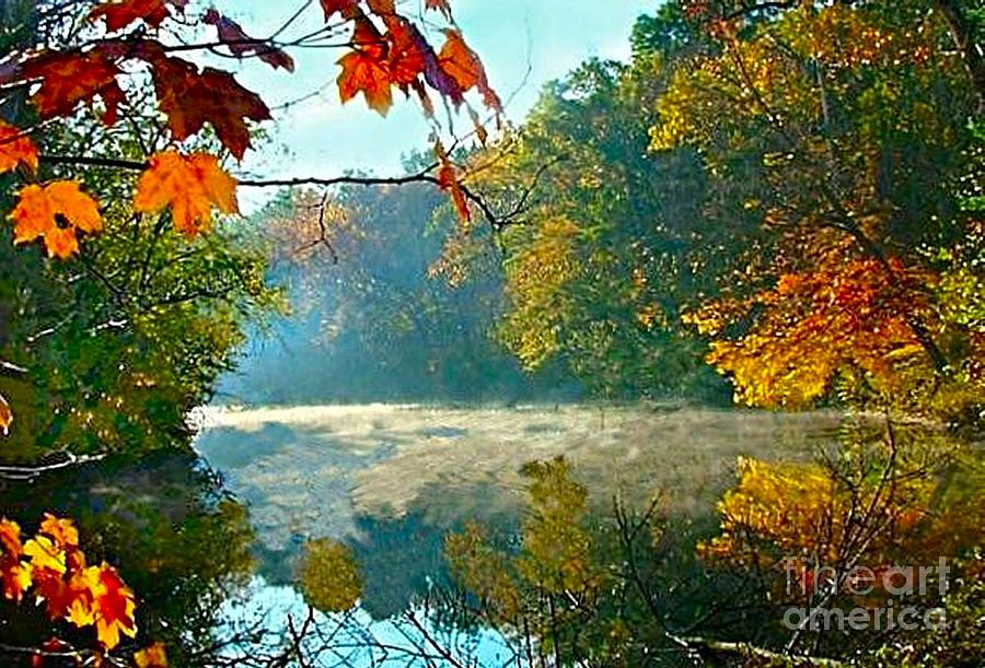 Autumn On The White River I Photograph  - Autumn On The White River I Fine Art Print