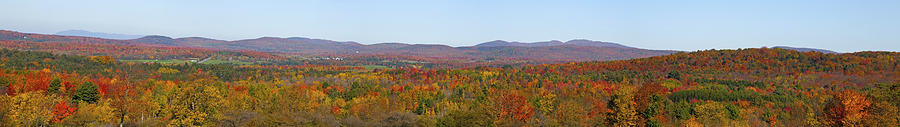 Autumn Colors Photograph - Autumn Panorama Brome Quebec Canada by David Chapman