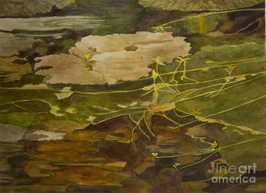 Autumn Pond Painting