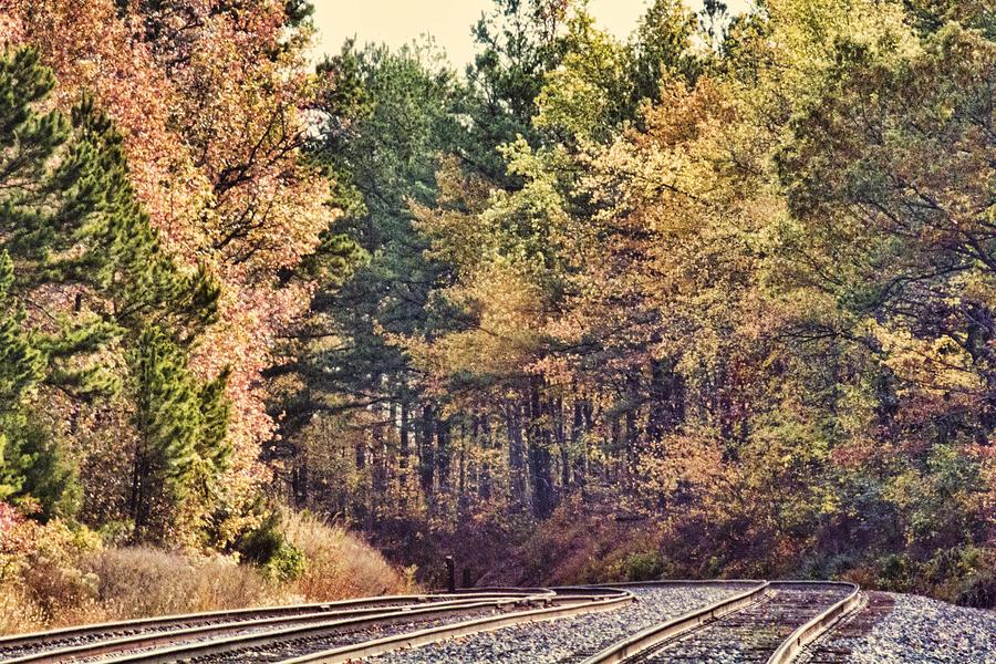 Autumn Railroad Photograph