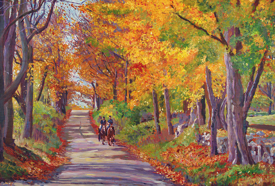 Autumn Ride Painting  - Autumn Ride Fine Art Print