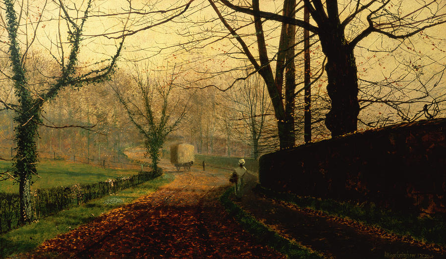 Autumn Sunshine Stapleton Parknear Pontefract  Painting