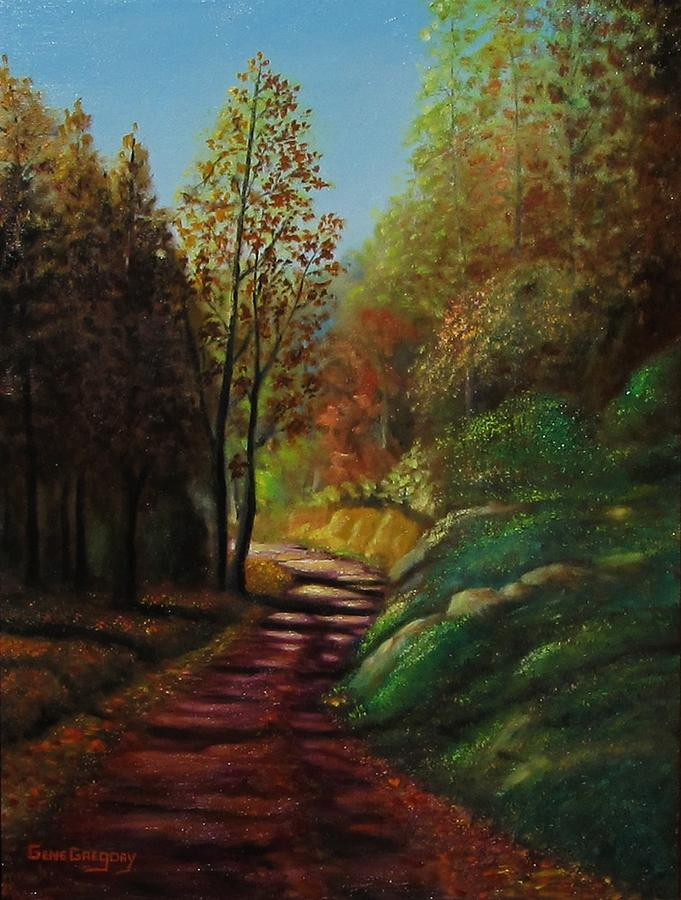 Autumn Trail Painting  - Autumn Trail Fine Art Print