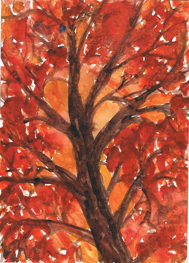 Autumn Tree 2 Painting  - Autumn Tree 2 Fine Art Print
