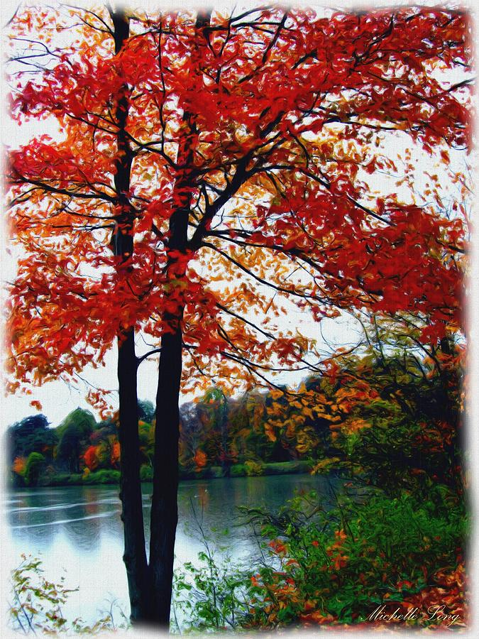 Autumn Trees Painting  - Autumn Trees Fine Art Print