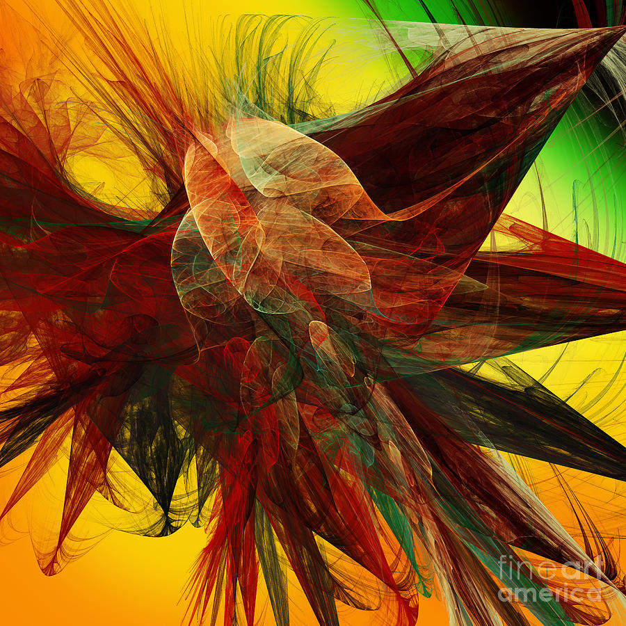 Autumn Wings Digital Art  - Autumn Wings Fine Art Print