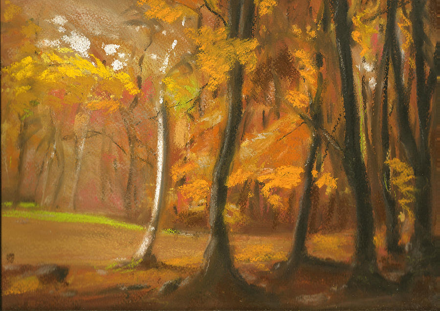 Autumn Woods 5 Pastel  - Autumn Woods 5 Fine Art Print